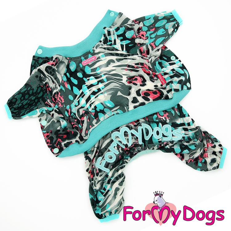 "Mysdress pyjamas overall ""Turquoise"" UNISEX ""For My Dogs"""