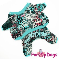 "Mysdress pyjamas overall ""Turquoise"" UNISEX ""For My Dogs"""