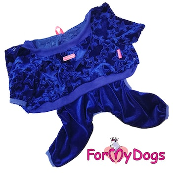 "Suit Mysdress Pyjamas overall ""Blå stjärna"" Unisex ""For My Dogs"""