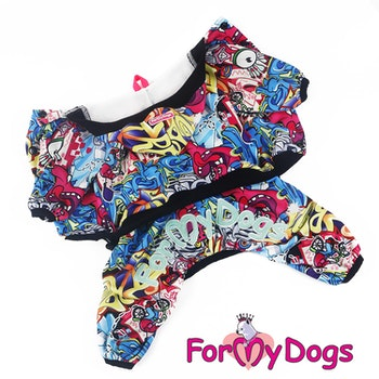 "Mysdress pyjamas overall ""Comics"" UNISEX ""For My Dogs"""
