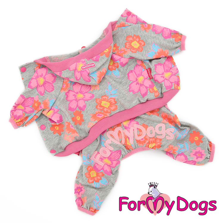 """Mysdress pyjamas overall """"Blommigt"""" UNISEX """"For My Dogs"""""""