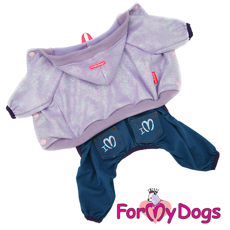"Suit Mysdress Pyjamas overall ""Glitter"" Unisex ""For My Dogs"""