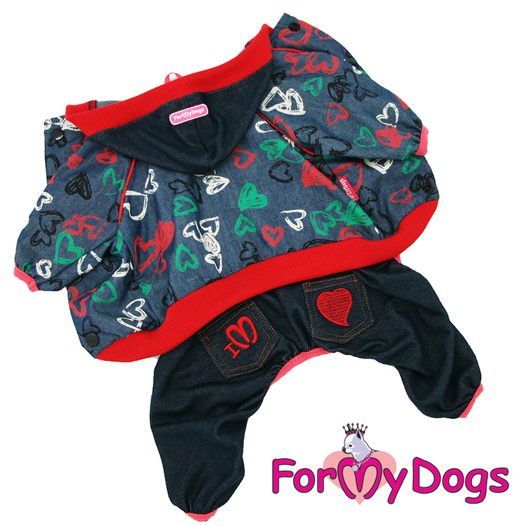 "Suit Mysdress Pyjamas overall ""Hjärta"" Unisex ""For My Dogs"""