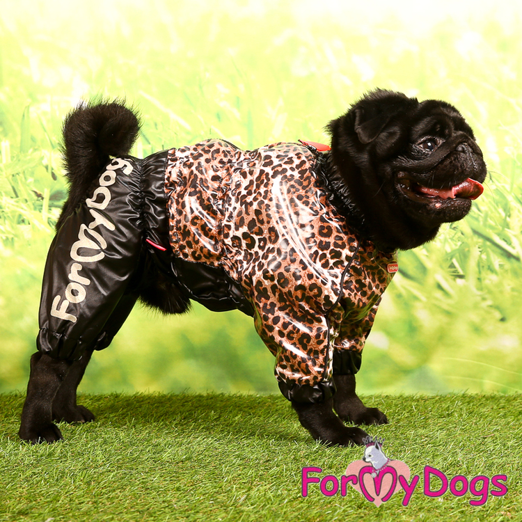 "Regnoverall ""Leopard"" Hane ""For My Dogs"""