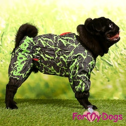 "Regnoverall ""Green Abstract Sparkle"" Hane ""For My Dogs"""