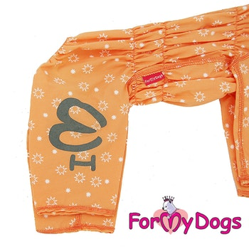 "Duster tunn skyddsoverall ""Orange"" Tik ""For My Dogs"""