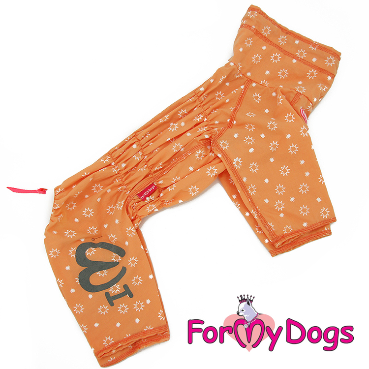 """Duster tunn skyddsoverall """"Orange"""" Tik """"For My Dogs"""""""