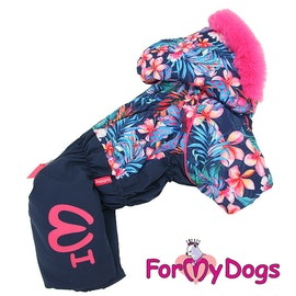 "Varm Vinteroverall ""Flora"" Tik ""For My Dogs"""