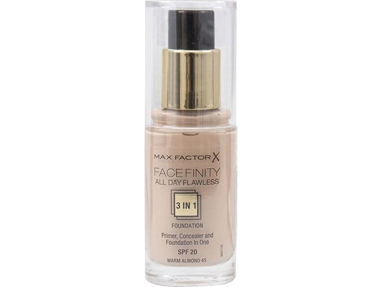 Max Factor Facefinity 3in1 Flexi Foundation 45 Warm Almond