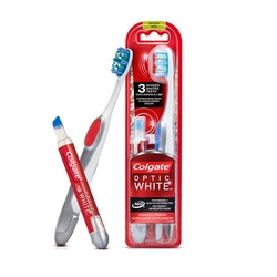 Colgate Whitening Optic Tandborste + Vit Tandpenna