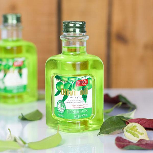 Wokali Olive Oil + Aloe Vera Body Massage 300ml