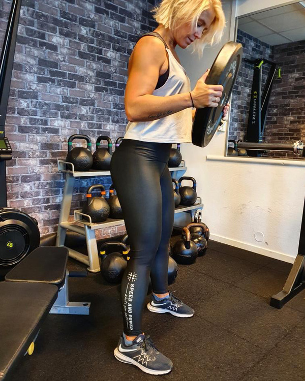 Speed and Power compression leggings nattsvart premium
