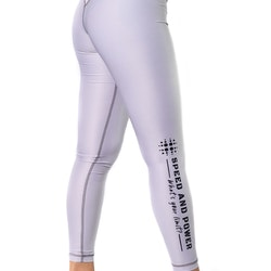 Speed and Power mjuk compression leggings Silvergrå
