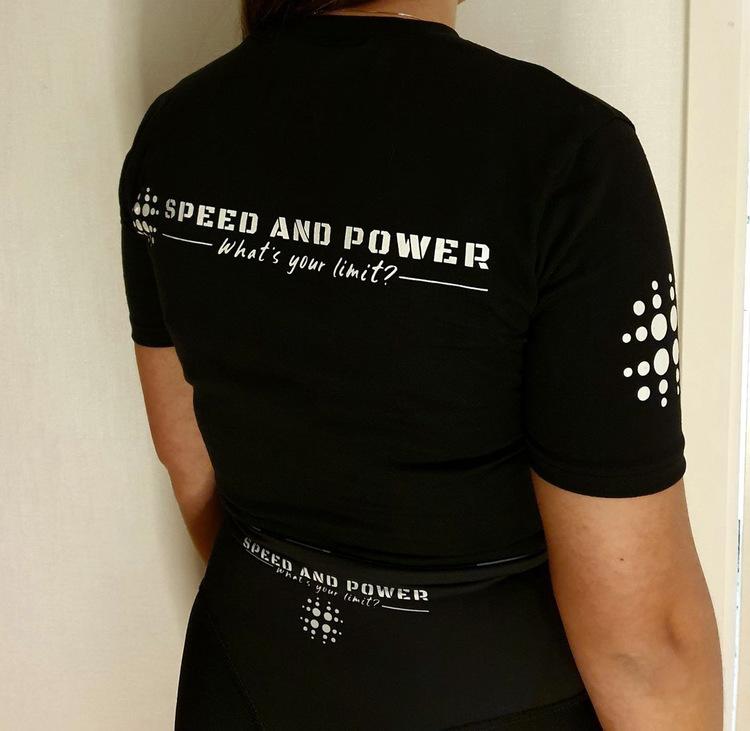Speed and Power T-shirt dam Svart