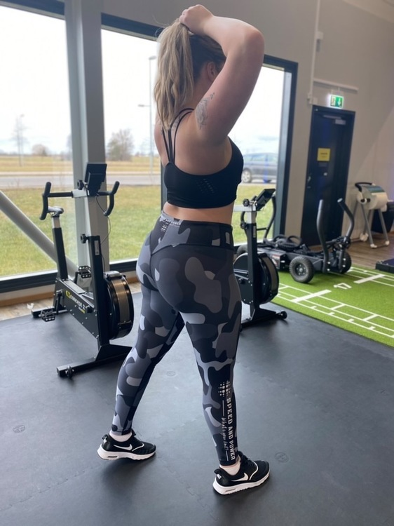 Speed and Power mjuk compression leggings Silvercamo basic