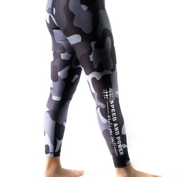 Speed and Power mjuk compression leggings Silvercamo