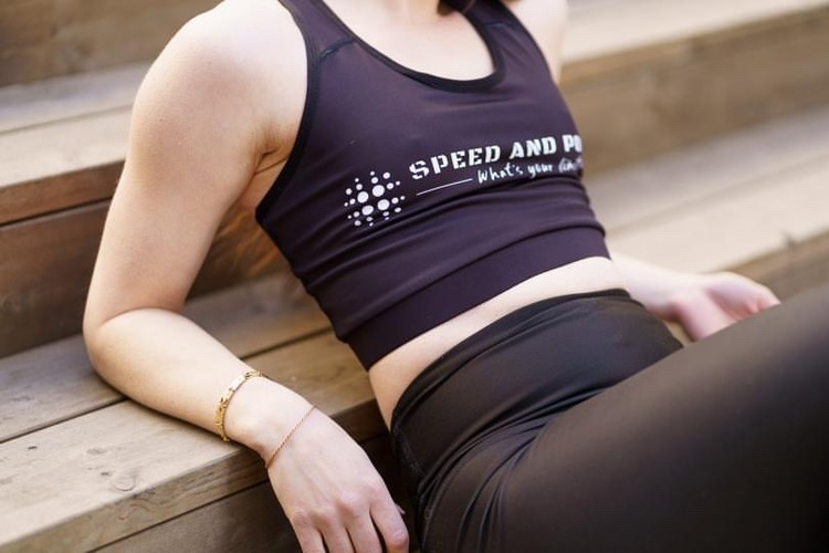 Speed and Power mesh sports-bh svart