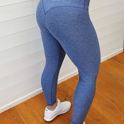 Speed and Power leggings Uppsala blå premium