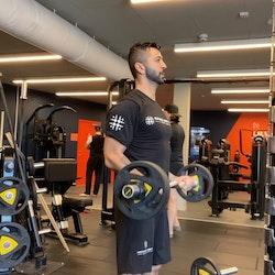 Speed and power gym shorts men Svart
