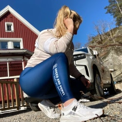 Speed and Power compression leggings marinblå premium