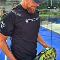Speed and Power T-skjorte dry fit Black Premium