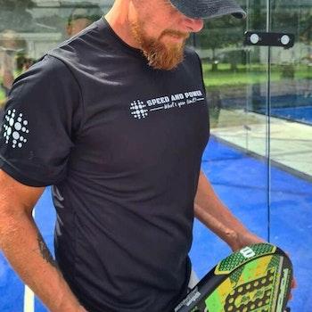 Speed and Power T-shirt dry fit Svart Premium