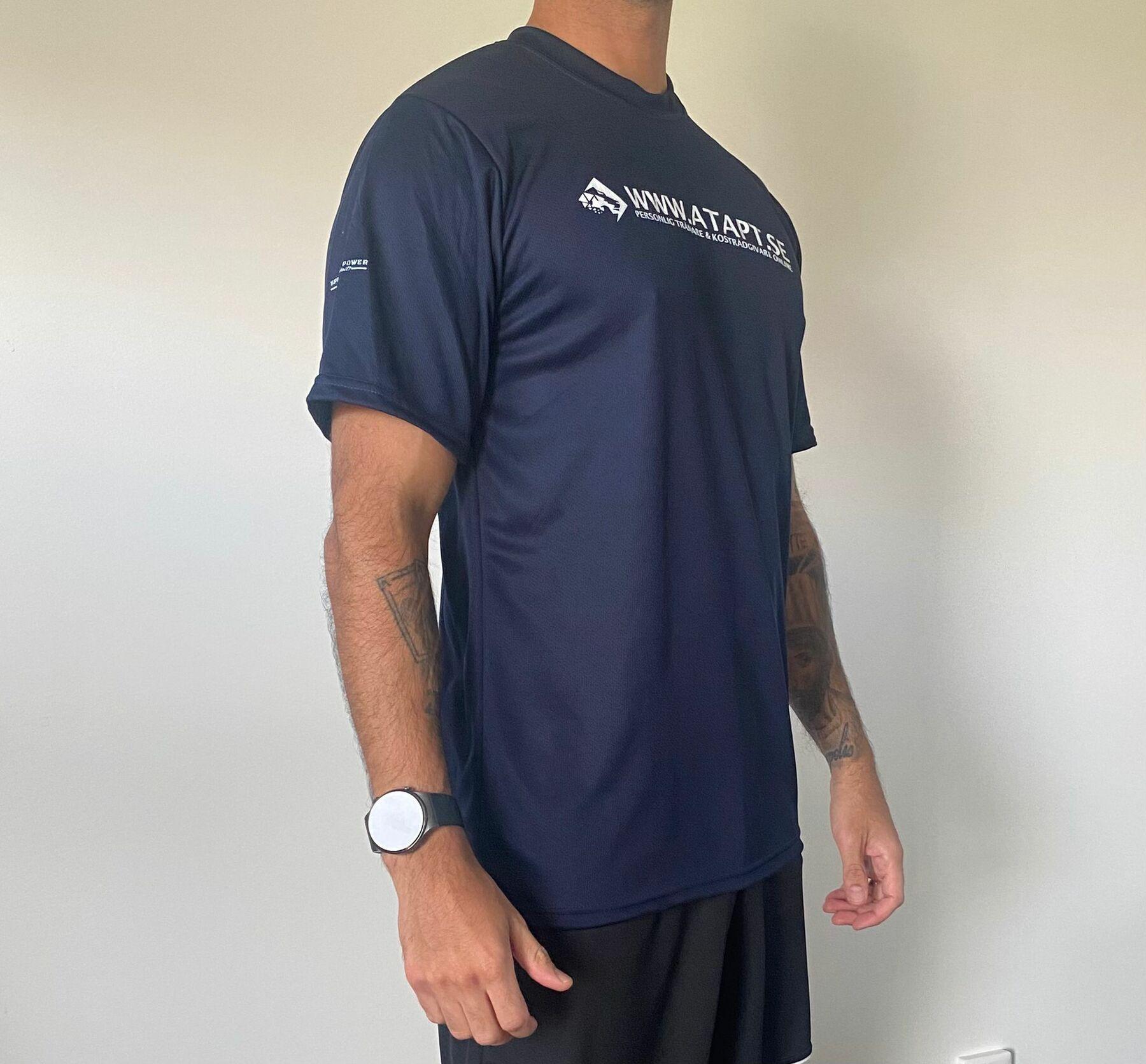 ATA T-shirt dry fit Marinblå