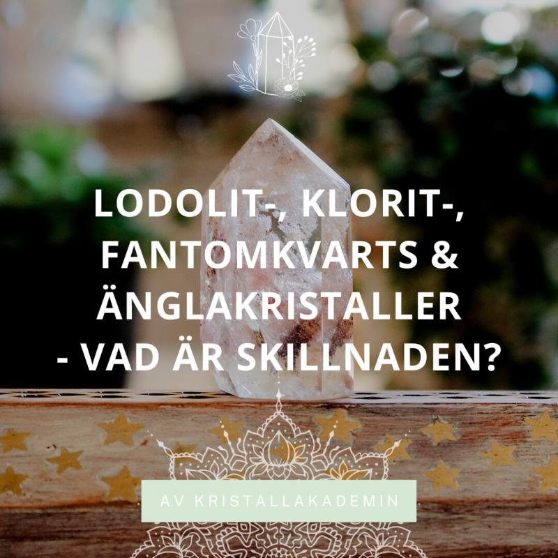 Lodolit, änglakristall, fantom- och kloritkvarts - vad är skillnaden?