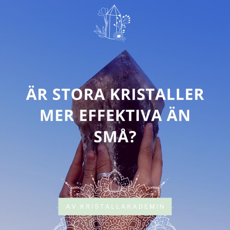 Är stora kristaller mer effektiva än små?