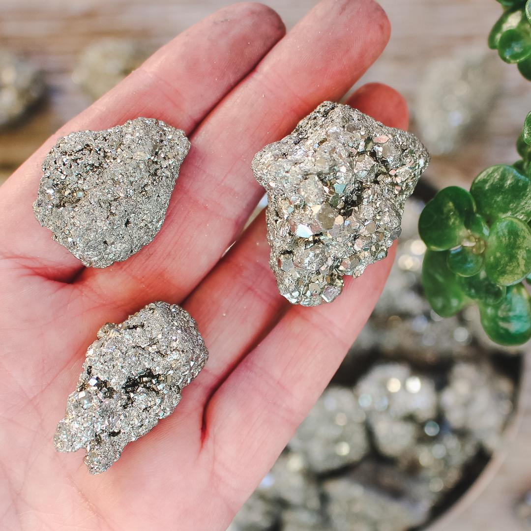 Pyrit, små kluster