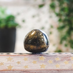 Kalkopyrit, trumlade stenar