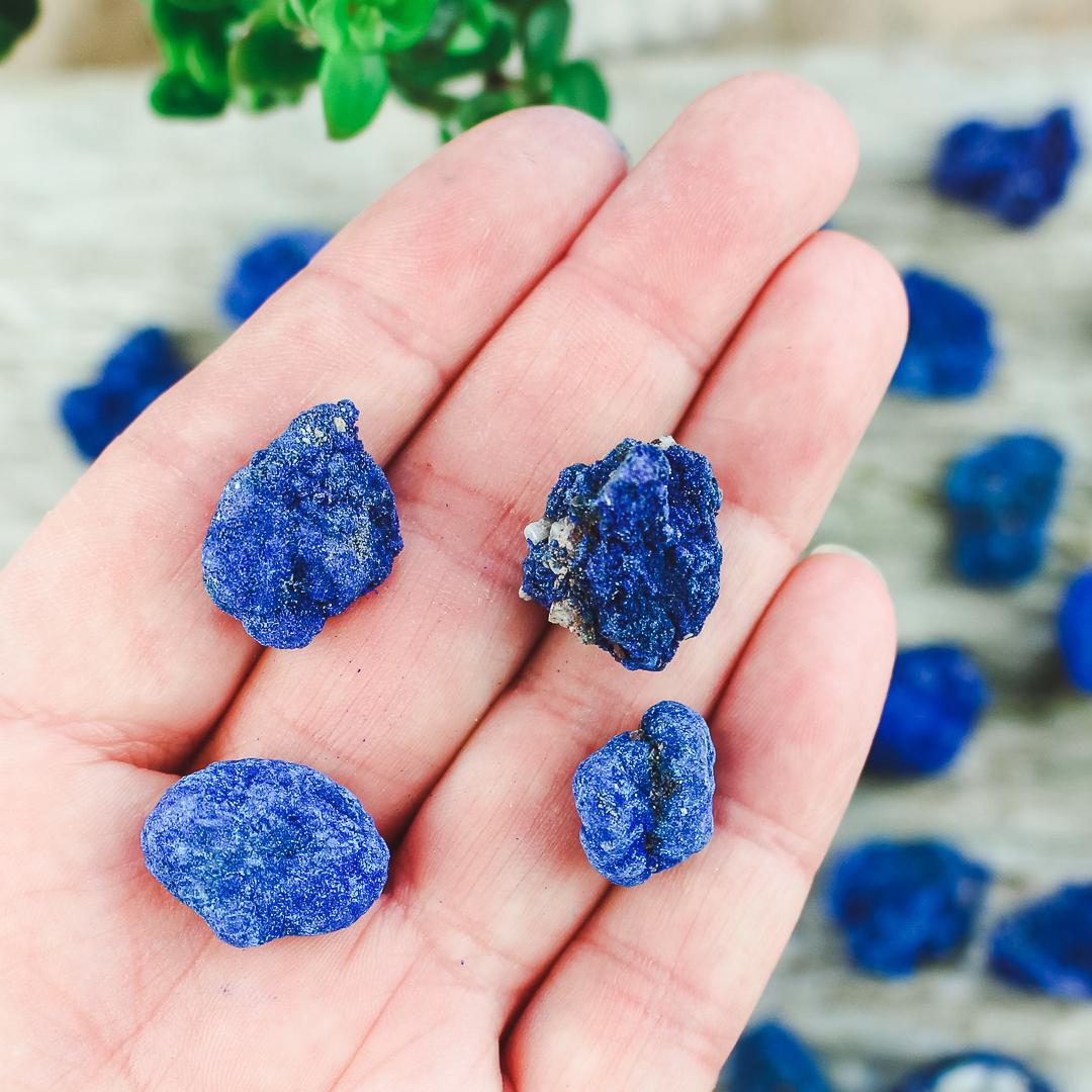 Azurit, rå stenar