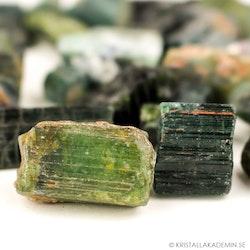 Grön Turmalin, rå stenar