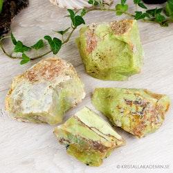 Grön Opal, rå stenar