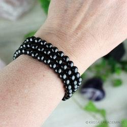 Shungit, armband 6 mm