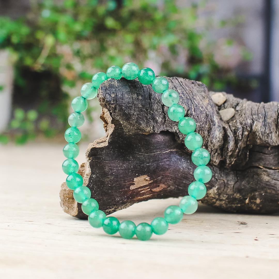 Armband, grön aventurin 6 mm