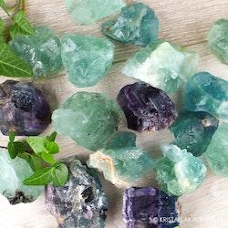 Fluorit, rå stenar