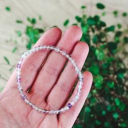 Fluorit, armband 4 mm