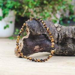 Tigeröga, armband 4 mm