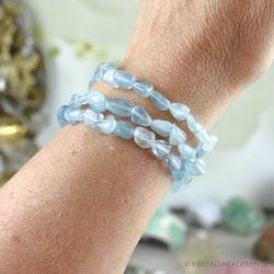 Akvamarin, armband 6-9 mm