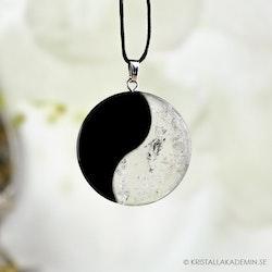 Bergkristall och Obsidian, Yin Yang hänge