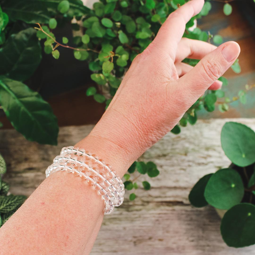 Bergkristall, armband 6 mm