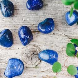 Blå Agat, trumlade stenar