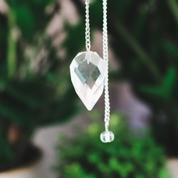 Bergkristall, facetterad pendel