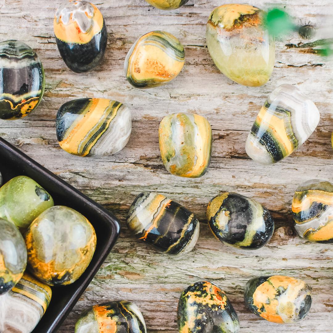 Bumble Bee Jaspis, trumlade stenar