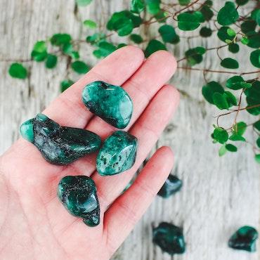 Smaragd, trumlade stenar