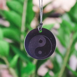 Shungit, Yin Yang halsband