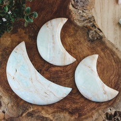 Caribbean blue kalcit, måne