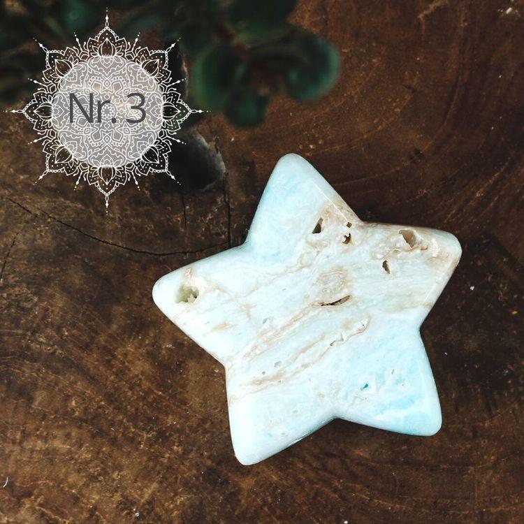 Caribbean blue kalcit, stjärna