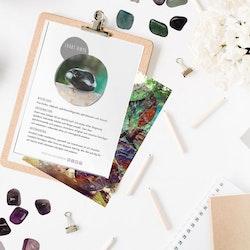 Svart onyx, infokort med egenskaper
